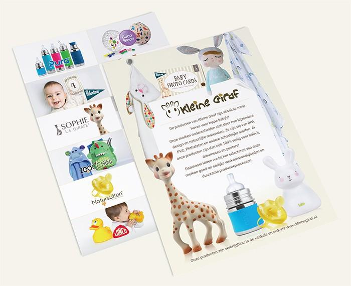 Grafische vormgeving kinder speelgoed flyer