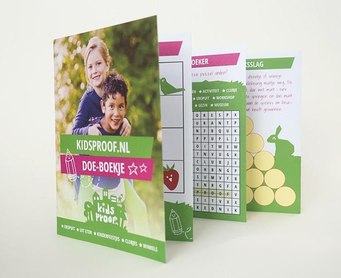 Vormgeving Kidsproof Doeboekje
