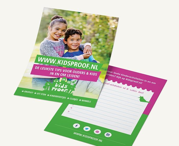 Vormgeving Kidsproof Flyer en Poster
