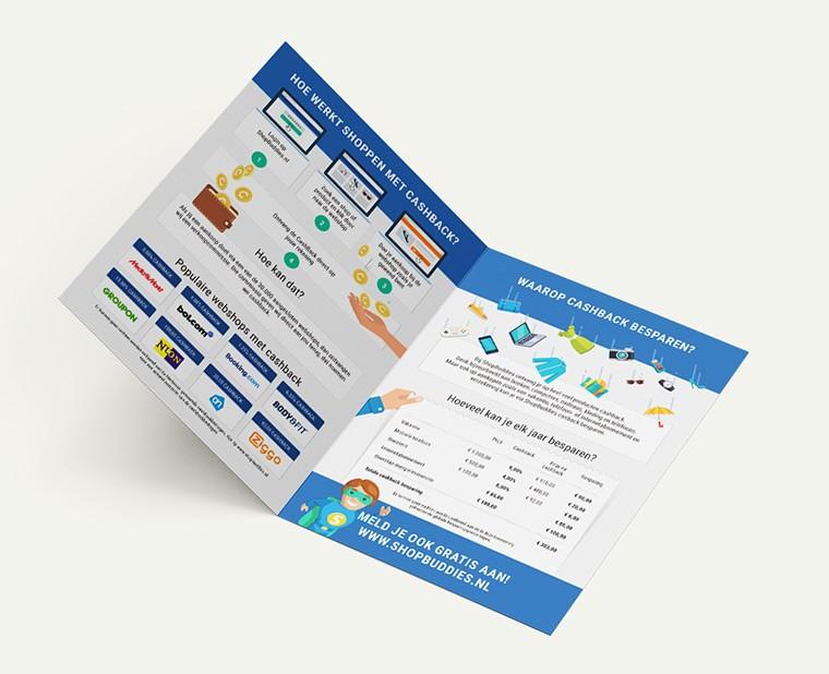 Vormgeving online folder ShopBuddies