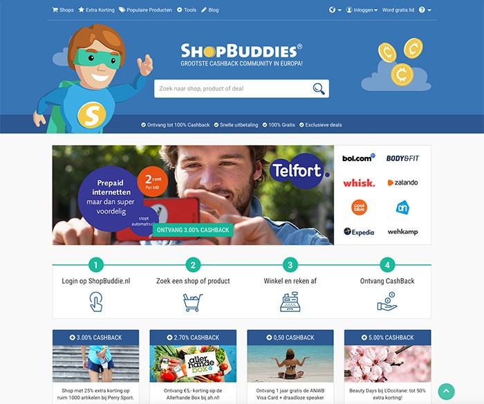 Webdesign ShopBuddies