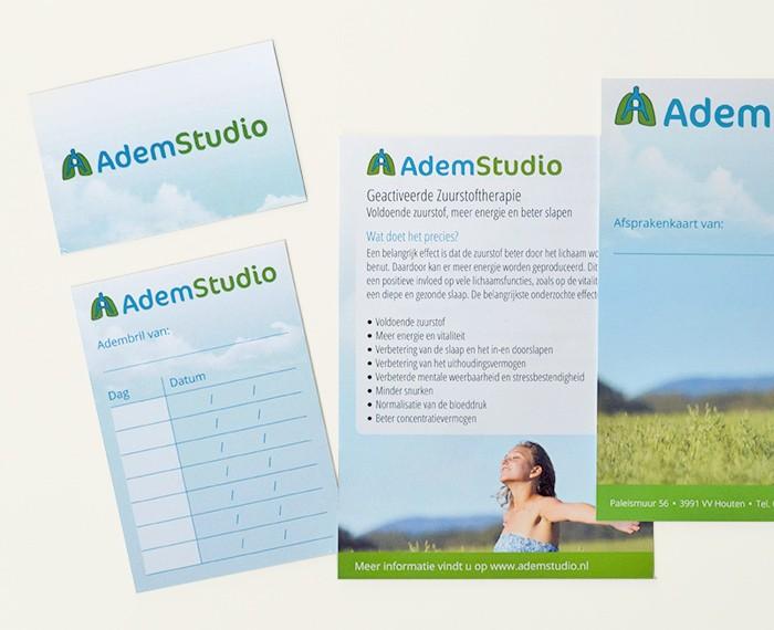 Vormgeving logo & huisstijl AdemStudio