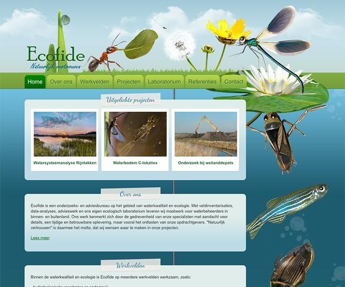 Webdesign Ecofide Onderzoeksbureau