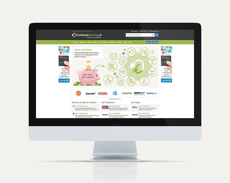 Maatwerk website ontwerp voor CashbackKorting