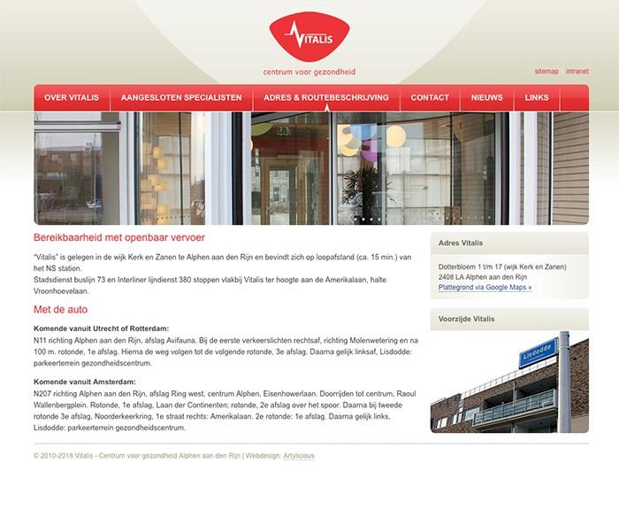 Webdesign Gezondheidscentrum Vitalis