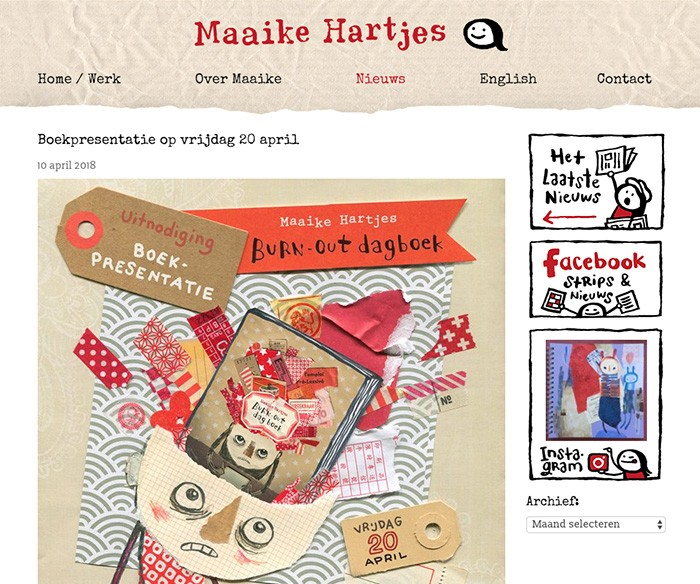 WordPress Website Maaike Hartjes