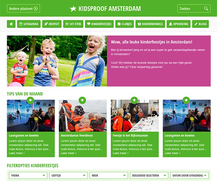 Webdesign Kidsproof