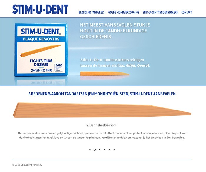 WordPress Website Stim-U-Dent