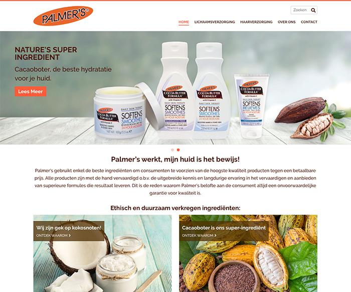 Website Ontwerp WordPress Palmer's Producten NL