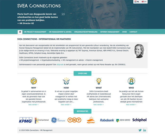 WordPress Website SVEA Connections